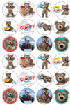 24 Little Charley Bear Edible Wafer Paper Cup Cake Toppers